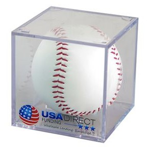 Baseball Acrylic Cube Display Case